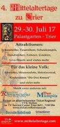 Mittelaltertage zu Trier 2017