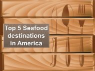 Top 5 Seafood destinations in America