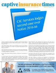 Captive Insurance Times Issue 120