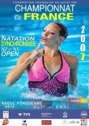Programme ——— Nationale 2 - Fédération Française de Natation