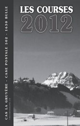 LeS CourSeS 2012 - Club alpin suisse de La Gruyère