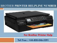 Dial Toll Free 448000465291 Brother Printer Helpline Number