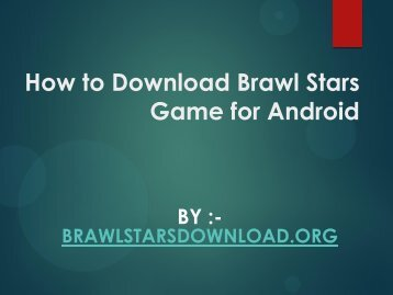 How to Download Brawl Stars Game for Android