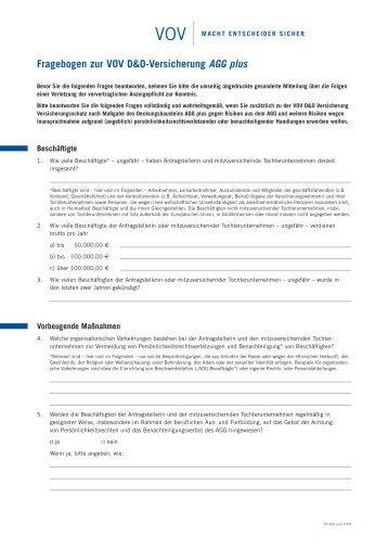 VOV Frageb. AGG - VOV GmbH