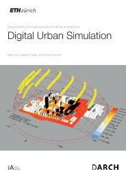 Digital Urban Simulation: Documentation of the teaching results from the fall semester 2016