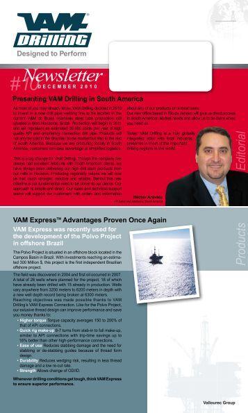 Newsletter #10 - VAM Drilling