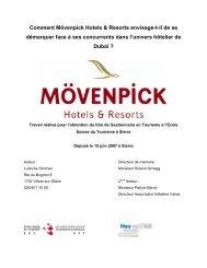 Comment Mövenpick Hotels & Resorts envisage-t-il de se ...