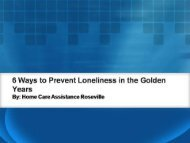 6 Ways to Prevent Loneliness in the Golden Years