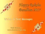 Best Raksha Bandhan Messages, Rakhi Wishes for Brother & Sister
