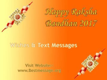 Best Raksha Bandhan Messages, Rakhi Wishes for Brother & Sister