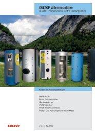 SOLTOP Wärmespeicher Katalog mit Planungsunterlagen HQ