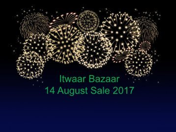 ItwaarBazaar.pk is offering Independence Day 14 August 2017 Sale