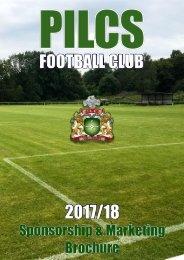 Pilcs FC Sponsorship & Marketing Brochure 2017/18