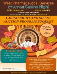casino night and silent auction program booklet - West ...
