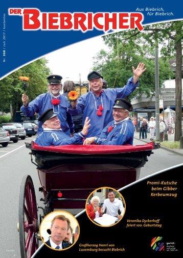 DER BIEBRICHER, Nr. 308, Juli 2017