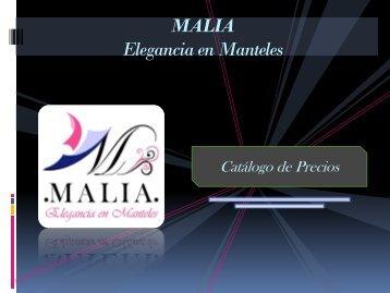 Catálogo MALIA