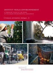 Download the presentation of the Institute (pdf file - Institut Veolia ...