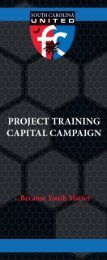 SC United FC Project Training Capitol Campaign