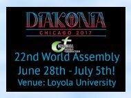Diakonia 2017 in Chicago