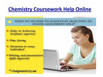 Chemistry Coursework Help Online