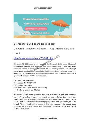 Microsoft 70-354 exam practice test