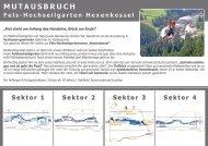 Fels Hochseilgarten Hexenkessel - Übersicht Parcours - Details