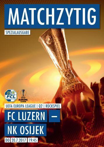 FC LUZERN MATCHZYTIG SPEZIALAUSGABE 17/18 (UEL Q2)