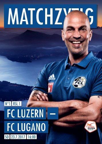 FC LUZERN MATCHZYTIG N°1 17/18 (RSL 1)