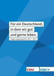 Das Wahlprogramm der CDU/CSU