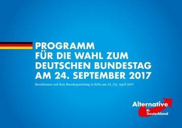 Das Wahlprogramm der AfD