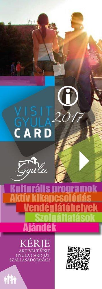 Visit Gyula Card Magazin 2017 Szolgaltatasok