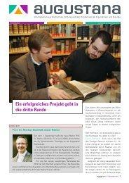 Interview mit Frau Dr. Claudia Jahnel - Augustana-Hochschule ...