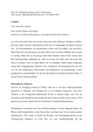 Prof. Dr. Wolfgang Sommer zum 70. Geburtstag Feier an der ...