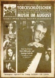 August Programm