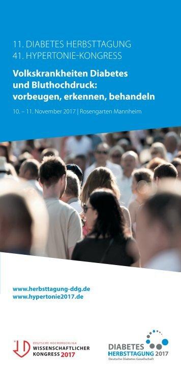 Flyer Diabetes Herbsttagung 2017