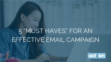 5 Must Haves for an Effective Email Campaign_MarketingProfs