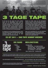 Link zur .PDF Datei - 3 Tage Tape