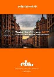 Teilnehmerheft für das Train the Officers 2017 in Hamburg