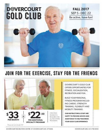 Dovercourt Fall 2017 Gold Club flyer