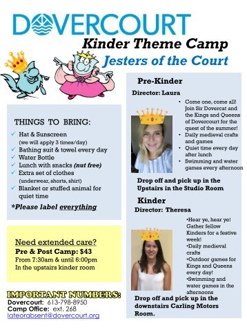 Dovercourt Camp newsletters week 4