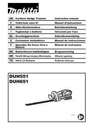 Makita Taille-haie 36 V => 2 x 18 V Li-Ion 65 cm - DUH651Z-P - Notice