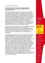 art KARLSRUHE 2012 - Schlussbericht