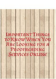 Important Things to Know When Looking for a Proofreading Services Online