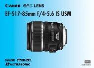 Canon EF-S 17-85mm f/4-5.6 IS USM - EF-S 17-85mm f/4-5.6 IS USM