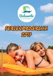 Ferienprogramm Bodenwöhr 2017