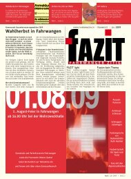 Wahlherbst in Fahrwangen - Gemeinde Fahrwangen