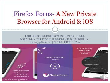 Firefox Focus Download, Install & Troubleshoot Tips |1-800-358-0071| Toll Free