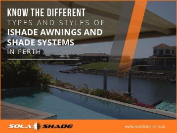 Different Types of iShade Awnings & Shade Systems