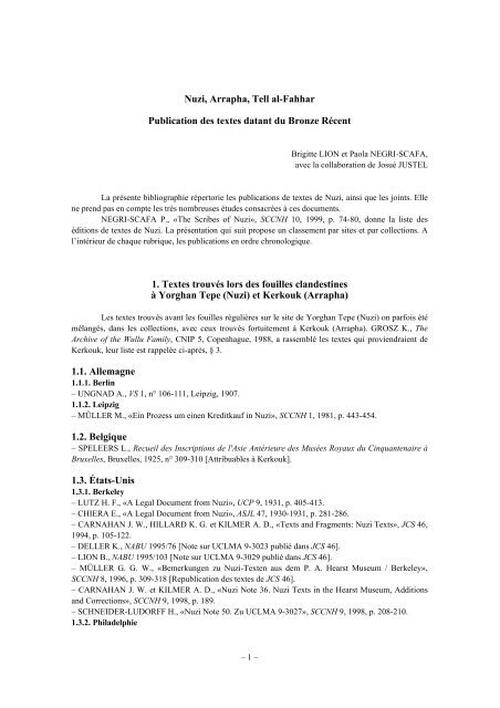 2 Biblio Nuzi 9 envoi 9nov.2010 - Cluster 13