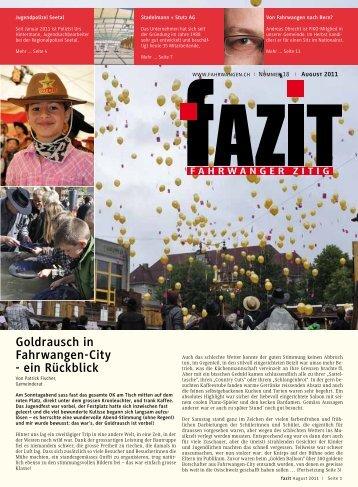 Goldrausch in Fahrwangen-City - ein Rückblick - Gemeinde ...